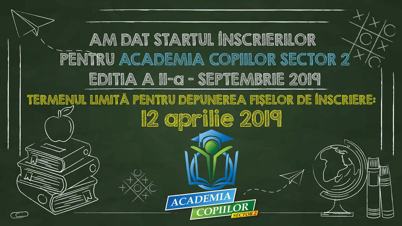 """""""Academia Copiilor Sector 2"""" ediția a II-a '19-'20"""